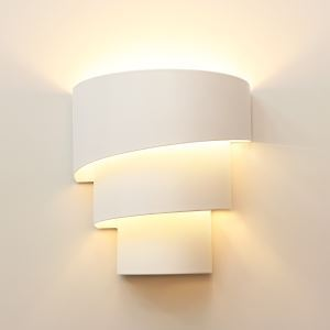 壁掛け照明 ブラケット 間接照明 玄関照明 螺旋型 白色