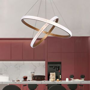 LEDペンダントライト リビング照明 ダイニング照明 店舗照明 北欧 2輪 60+40cm/80+60cm