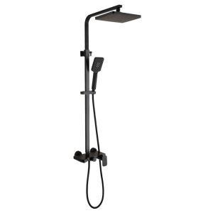 浴室シャワー水栓 レインシャワーシステム バス水栓 ヘッドシャワー ハンドシャワー 黒色 アンティーク調 ステンレス鋼