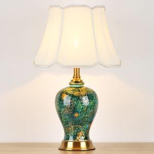 テーブルランプ デスクスタンド 枕元照明 アンティーク調 陶器 1灯 HY064