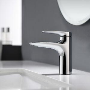 洗面蛇口 バス水栓 冷熱混合栓 立水栓 水道蛇口 手洗器水栓 4色 H15.4cm