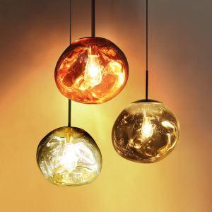 ペンダントライト リビング照明 ダイニング照明 吹き抜け照明 店舗照明 天井照明 熔岩 ガラス 1灯