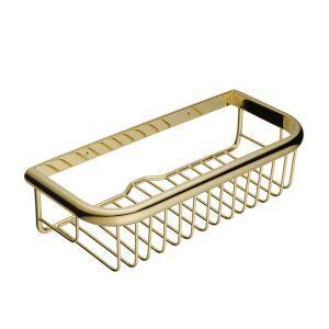シャンプースタンド シャワーラック 浴室収納 真鍮製 金色 Ti-PVD