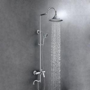 浴室シャワー水栓 レインシャワーシステム バス水栓 ヘッドシャワー+ハンドシャワー+蛇口 混合栓 5色