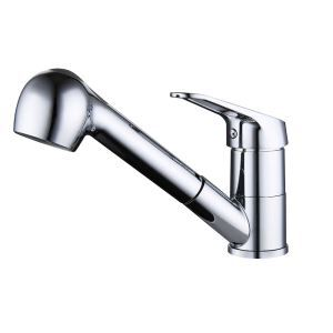 キッチン蛇口 台所蛇口 引出し式水栓 冷熱混合栓 整流&シャワー吐水式 水道蛇口 クロム