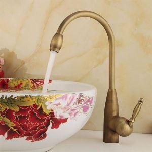 洗面蛇口 バス水栓 水道蛇口 冷熱混合水栓 真鍮製 ブロンズ色