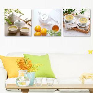 絵画 壁絵画時計 壁掛け時計 静音時計 アートパネル 壁飾り 茶道具 3pcs オシャレ