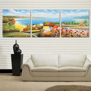 絵画 壁絵画時計 壁掛け時計 静音時計 アートパネル 壁飾り 童話世界 3pcs オシャレ