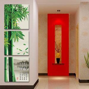 絵画 壁絵画時計 壁掛け時計 静音時計 アートパネル 壁飾り 竹 3pcs オシャレ