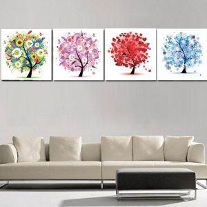 絵画 油彩画 アートパネル 装飾絵画 壁飾り 樹 プレゼント 1pcs オシャレ