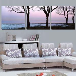 絵画 壁絵画時計 壁掛け時計 静音時計 アートパネル 壁飾り 風景 3pcs オシャレ