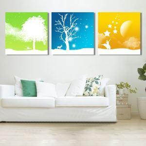 絵画 油彩画 アートパネル 装飾絵画 壁飾り 抽象 プレゼント 3pcs オシャレ