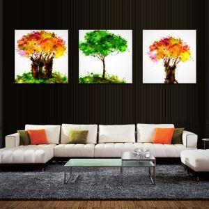 絵画 油彩画 アートパネル 装飾絵画 壁飾り 樹 プレゼント 3pcs オシャレ