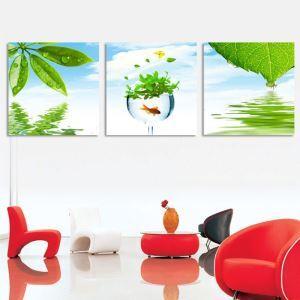 絵画 油彩画 アートパネル 装飾絵画 壁飾り 葉 プレゼント 3pcs  オシャレ