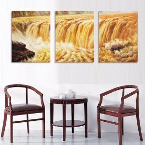 絵画 油彩画 アートパネル 装飾絵画 壁飾り 黄河 プレゼント 3pcs  オシャレ