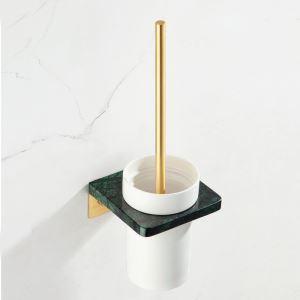 トイレブラシホルダー トイレ用品 トイレブラシ&ポット付き 大理石&銅 3色 YSQS004