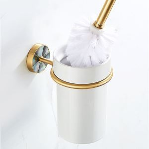 トイレブラシホルダー トイレ用品 トイレブラシ&ポット付き 貝殻&銅 QSMTS01