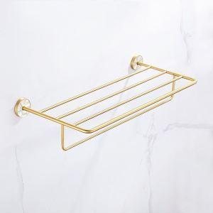 浴室タオルラック タオル掛け タオル収納 壁掛けハンガー バスアクセサリー  金色 QSYJJ01