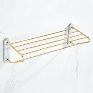 浴室タオルラック タオル掛け タオル収納 壁掛けハンガー マーブル&銅  YSJJ008