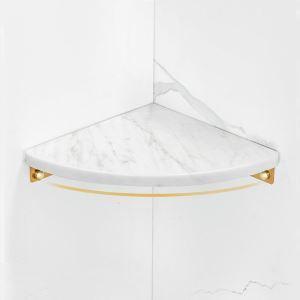 三角形化粧棚 シェルフ マーブル棚 浴室棚 バスアクセサリー 3色 YSQS008