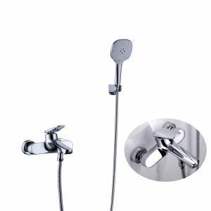 浴室シャワー水栓 バス蛇口 ハンドシャワー 混合水栓 浴槽蛇口 風呂用 クロム