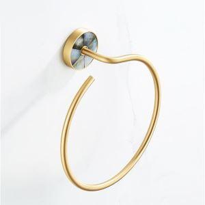 タオル掛け 浴室タオルリング タオル収納 バスアクセサリー 真鍮 QSMJH01
