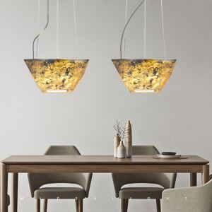 LEDペンダントライト 天井照明 玄関照明 天然石 3D立体 4畳 LED対応