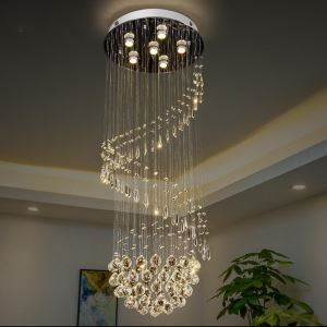 シーリングライト クリスタル照明 リビング照明 吹き抜け照明 天井照明 D50cm 豪華 オシャレ 6灯
