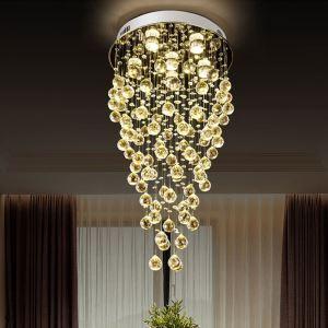 シーリングライト クリスタル照明 リビング照明 吹き抜け照明 天井照明 D45cm 豪華 オシャレ 6灯
