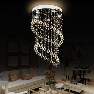 シーリングライト クリスタル照明 リビング照明 吹き抜け照明 天井照明 D50cm 豪華 オシャレ 5灯