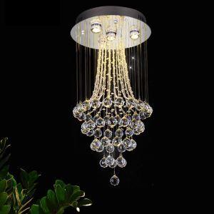 シーリングライト クリスタル照明 リビング照明 吹き抜け照明 天井照明 D40cm 豪華 オシャレ 4灯