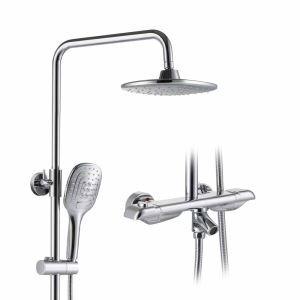 浴室シャワー水栓 シャワーシステム サーモスタット式混合栓 ヘッドシャワー+ハンドシャワー+蛇口 3色