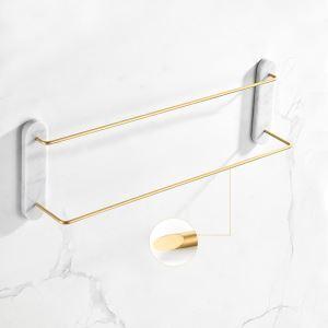 浴室タオルバー タオル掛け 壁掛けハンガー タオル収納 大理石&銅 QSFG02
