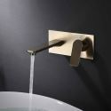 壁付水栓 洗面蛇口 バス水栓 水道蛇口 冷熱混合栓 手洗器蛇口 2色