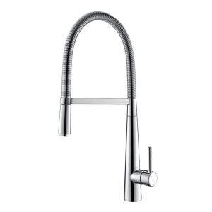 キッチン水栓 台所蛇口 冷熱混合栓 水道蛇口 水栓金具 ばね型 クロム