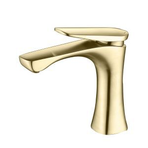 洗面蛇口 バス水栓 冷熱混合栓 水道蛇口 水栓金具 2色 H16.7cm