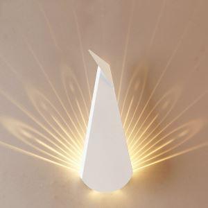 LED壁掛けライト ウォールランプ ブラケット 間接照明 玄関照明 孔雀型 2色 CI540