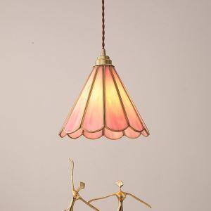 ペンダントライト 玄関照明 子供屋照明 ダイニング照明 花型 ピンク 和式 1灯
