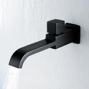 壁付蛇口 キッチン水栓 台所蛇口 単水栓 手洗器蛇口 黒色