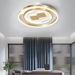 LEDシーリングライト リビング照明 ダイニング照明 天井照明 寝室 居間 丸型 金色 LED対応