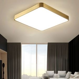 LEDシーリングライト 天井照明 リビング照明 ダイニング照明 寝室 居間 方形 金色 LED対応