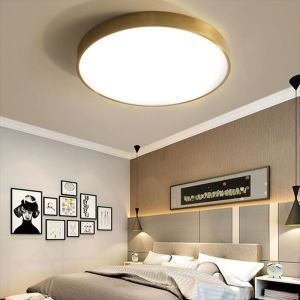 LEDシーリングライト 天井照明 リビング照明 ダイニング照明 寝室 居間 丸型 金色 LED対応