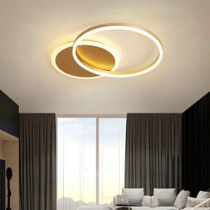 LEDシーリングライト リビング照明 ダイニング照明 寝室照明 天井照明 1環 金色 LED対応