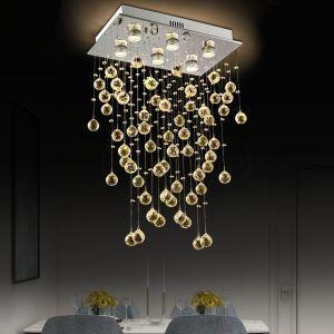 シーリングライト クリスタル照明 リビング照明 吹き抜け照明 天井照明 方形 豪華 オシャレ 6灯