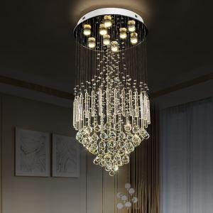 シーリングライト クリスタル照明 リビング照明 吹き抜け照明 天井照明 D50cm 豪華 オシャレ 9灯