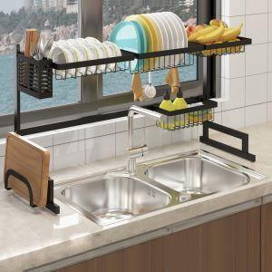 キッチンラック キッチン収納 水切りラック 食器洗い 2段式 ステンレス製 大容量