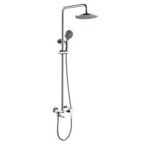 浴室シャワー水栓 シャワーシステム バス水栓 ヘッドシャワー+ハンドシャワー+蛇口 プレススイッチ 3色