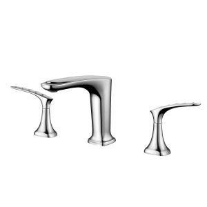 洗面蛇口 バス水栓 冷熱混合栓 手洗器蛇口 水道蛇口 2ハンドル 3点 3色