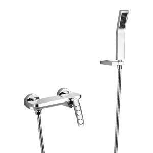 浴室シャワー水栓 冷熱混合栓 ハンドシャワー付き 蛇口なし 水栓金具 風呂用 3色