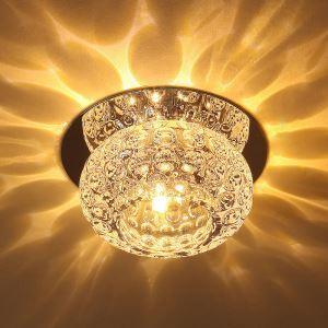 LEDシーリングライト 玄関照明 天井照明 照明器具 クリスタル 埋込み式 LED対応